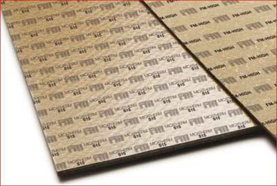 Tanged Mica sheet for high temperatures and pressure